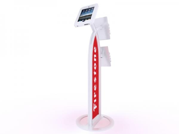 MOD-1353 iPad Kiosk with Literature Holders -- White