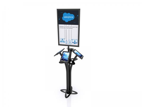 MOD-1347M Portable iPad Kiosk -- Black -- Aluminum Base